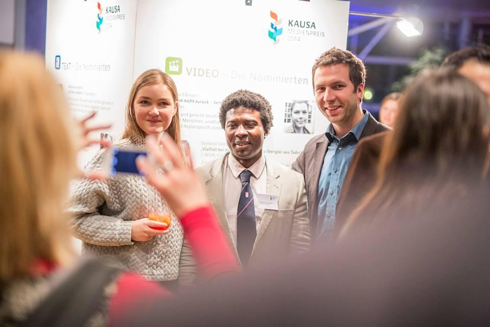 Vor der Preisverleihung vom KAUSA Medienpreis, für den Hauke nominiert war. Copyright: JOBSTARTER; Fotograf Nils Krüger